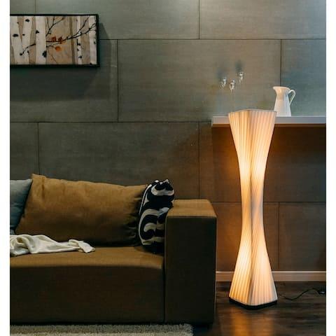 "Artiva USA Ballerina Modern Twist Floor lamp, 48"", Off Off White"