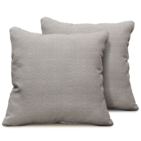 Ash Outdoor Throw Pillows Square Set of 2