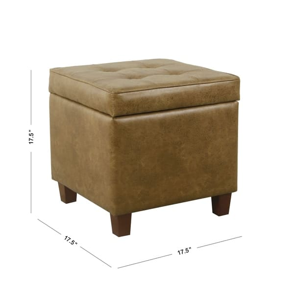 Marvelous Shop Homepop Square Tufted Storage Ottoman Distressed Squirreltailoven Fun Painted Chair Ideas Images Squirreltailovenorg