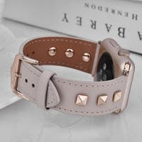 Genuine Leather Studded Band for Apple Watch Series 1, 2, 3, and 4
