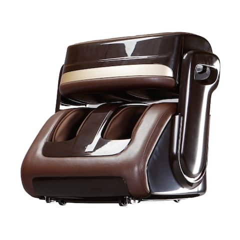 Kleasant Professional Shiatsu Foot Massager with Foot Roller PEDISSAGE BROWN - Small