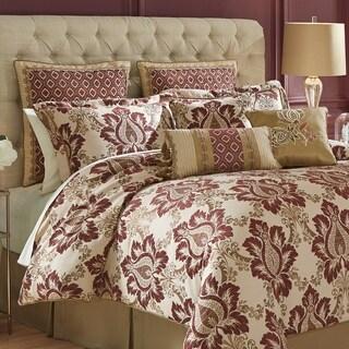 Croscill Esmeralda Chenille Damask 4 Piece Comforter Set