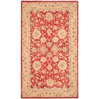 Safavieh Handmade Anatolia Traditional Oriental Red/ Ivory Hand-spun Wool Rug (9' x 12')