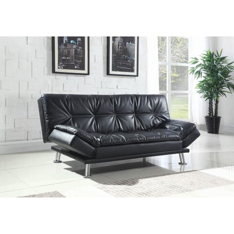 Larkin Upholstered Sofa Bed with Metal Legs