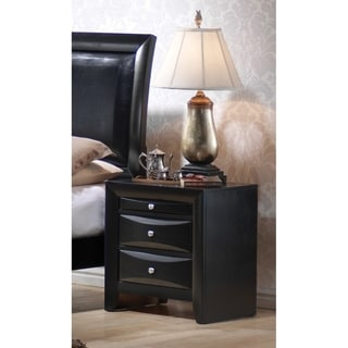 Copper Grove Vollenhove Black 2-drawer Nightstand with Pull-out Tray