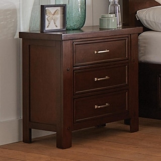 Flannery Pinot Noir 3-drawer Nightstand with Dual USB Ports