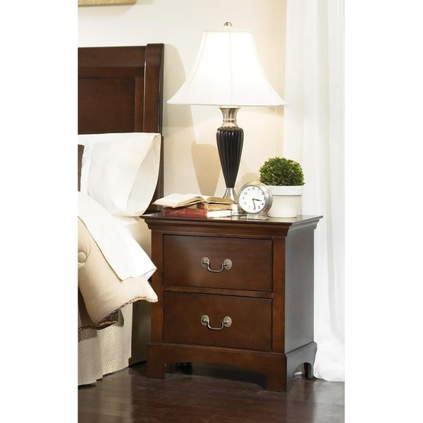 Cypress Warm Brown 2-drawer Rectangular Nightstand