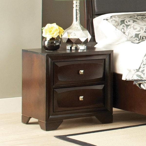Copper Grove Schiedam Cappuccino Brown 2-drawer Nightstand