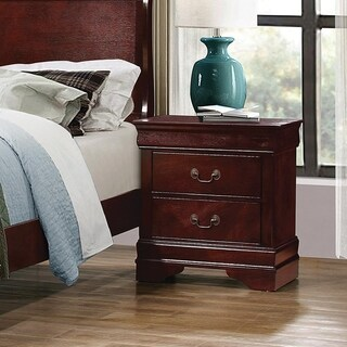 Demetra Cherry 2-drawer Rectangular Nightstand