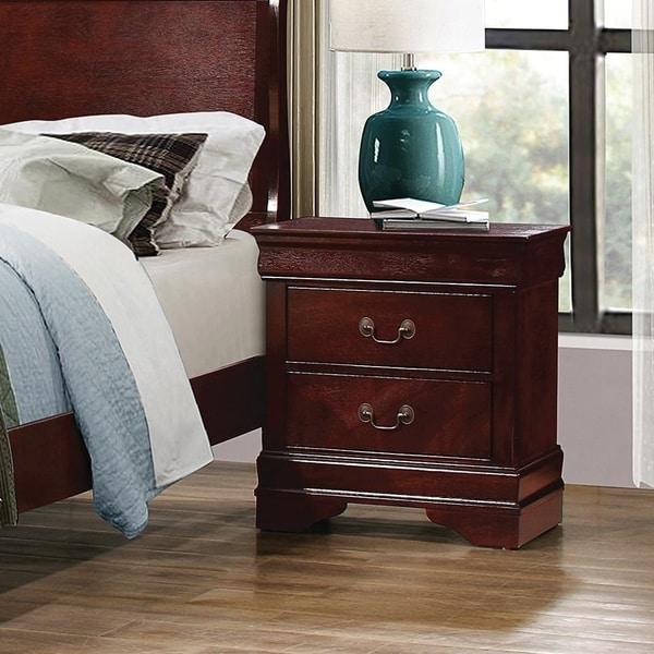 Demetra Cherry 2-drawer Rectangular Nightstand