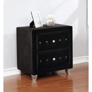Calloway 2-drawer Tufted Upholstered Rectangular Nightstand