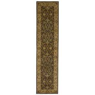 Safavieh Handmade Heritage Timeless Traditional Charcoal Grey/ Ivory Wool Runner (2'3 x 12')