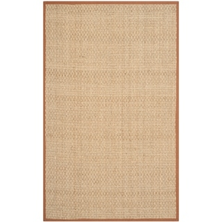 Safavieh Casual Natural Fiber Natural and Brown Border Seagrass Rug (3' x 5')