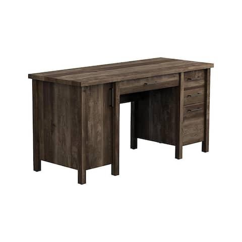 Carbon Loft Rajesh Rustic Oak 4-drawer Executive Desk