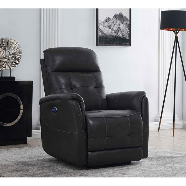 Anders Cushion Back Upholstered Power^3 Recliner
