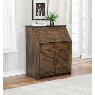 Mellie 1-drawer Secretary Desk with Two-door Cabinet