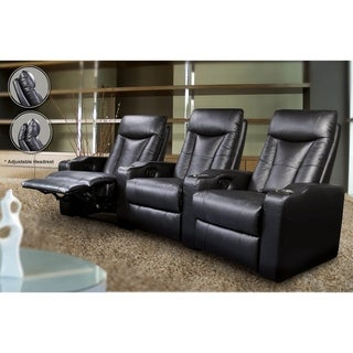 Charleton Black Adjustable Headrest Element Recliner