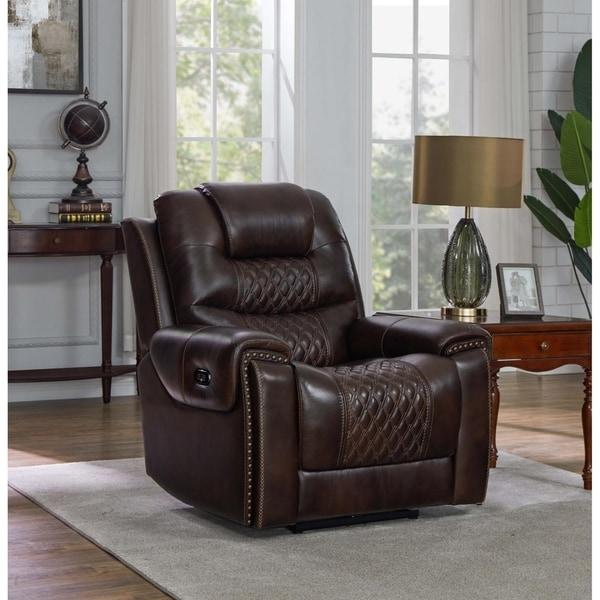 Fleming Cushion Back Upholstered Power^2 Recliner