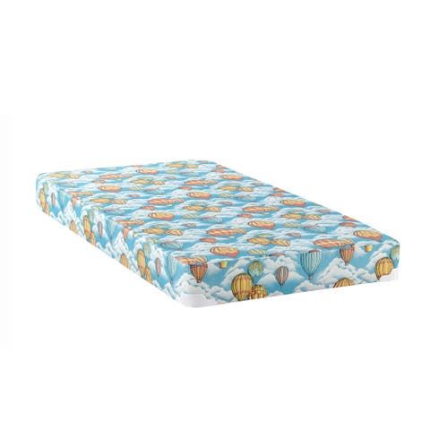 Pearson Balloon Blue Patterned Mattress with 2-inch Wood Bunkie