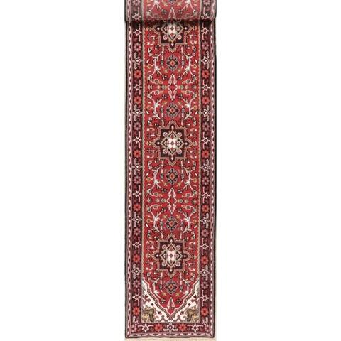 Persian Heriz Indian Traditional Carpet Hand Knotted Oriental Wool Rug