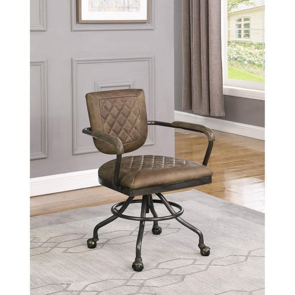 Shop Helena Upholstered Office Chair With Casters Overstock 29136597