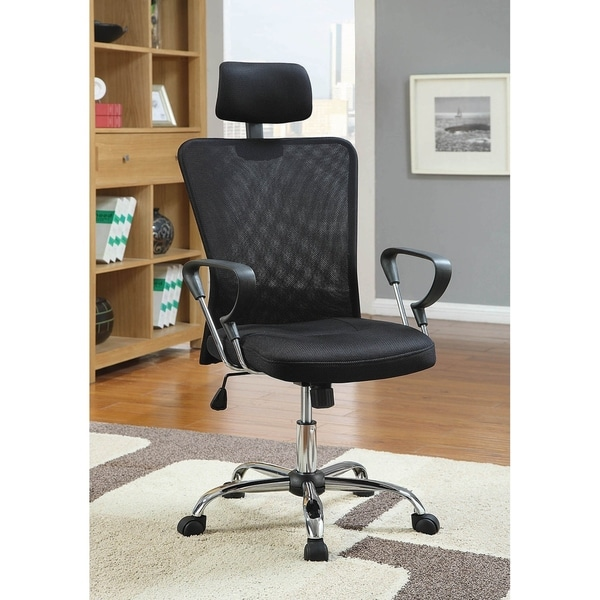 Corvallis Black Height Adjustable Office Chair with Casters