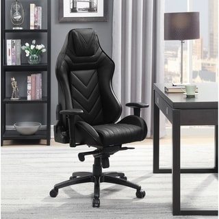 Courtney Black Height Adjustable Office Chair with Casters