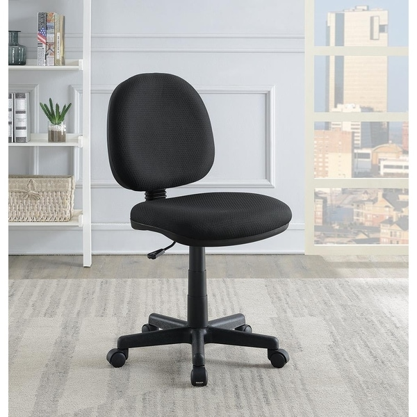 Newell Black Armless Office Chair with Casters