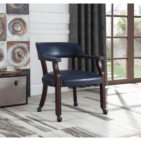 Mina Upholstered Open Back Office Chair with Casters