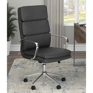 Amos Upholstered Office Chair with Casters