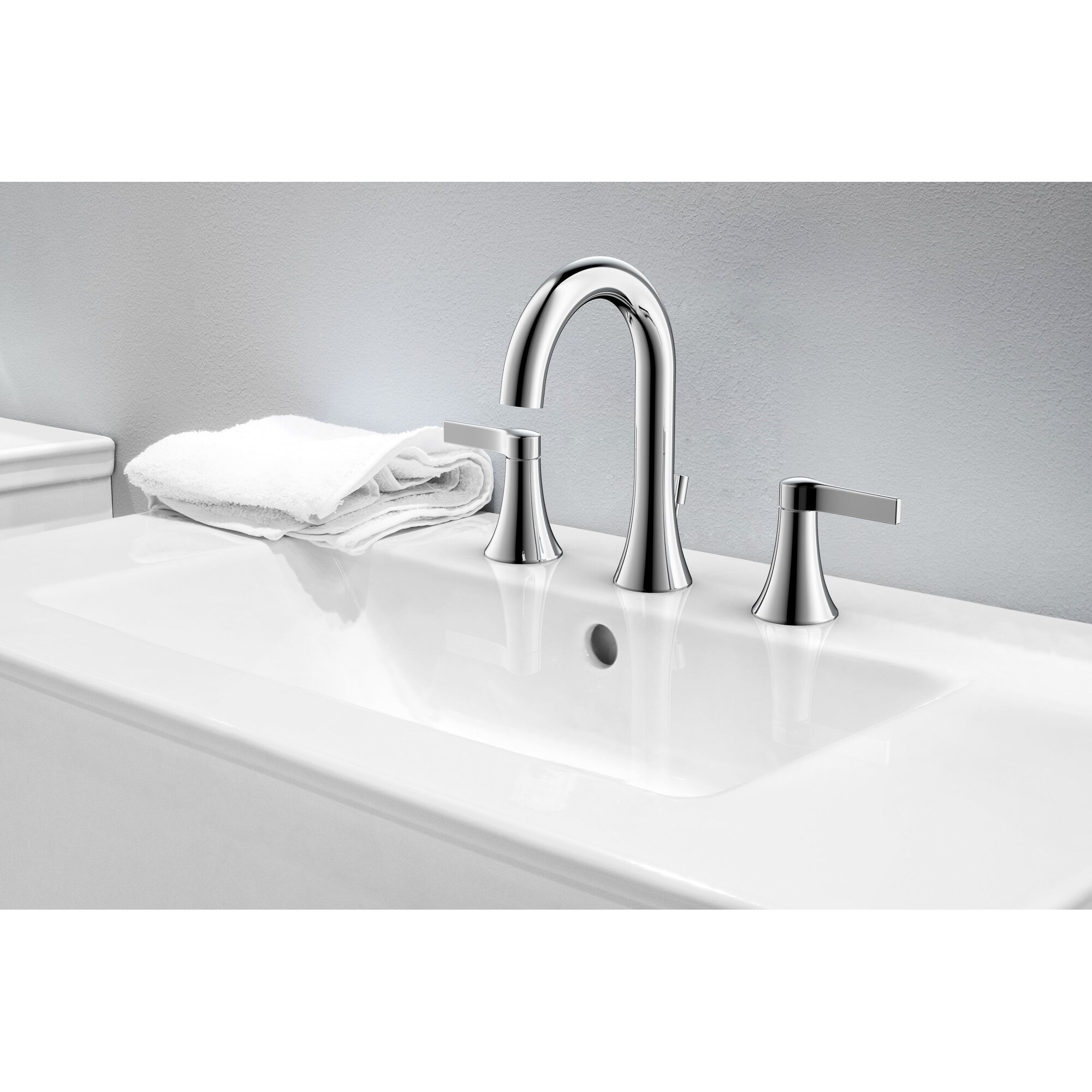 Shop Fontaine Varenne 8 In Widespread Modern Bathroom Faucet On