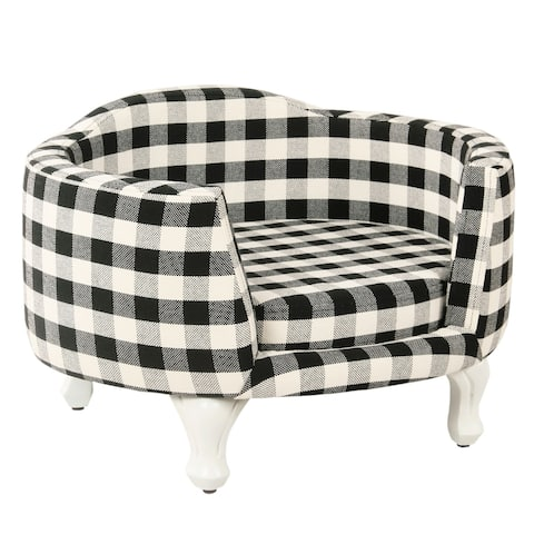 HomePop Pet Bed - Mini Black Plaid
