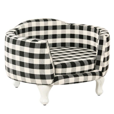 HomePop Pet Bed - Mini Black Plaid