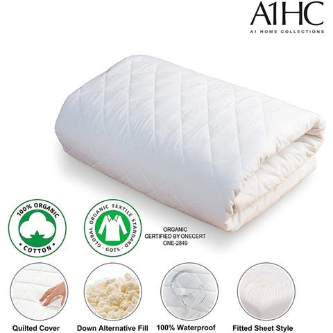 100% Organic Cotton Waterproof Membrane Treated Mattress Protector