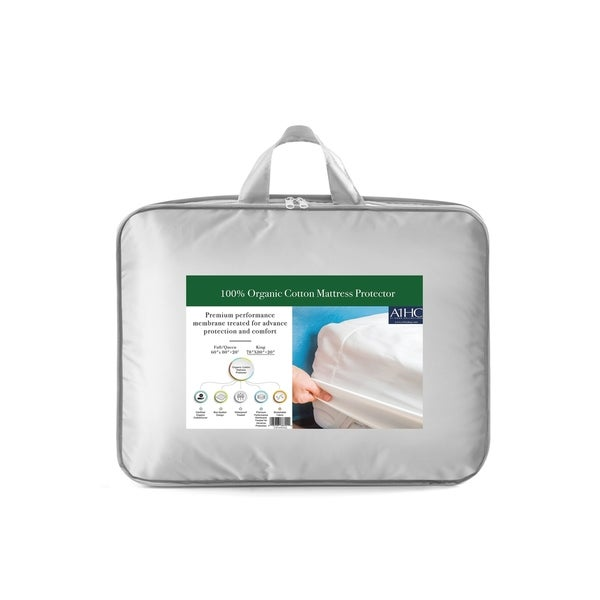 100% Organic Cotton Waterproof Membrane Treated Mattress Protector. Opens flyout.