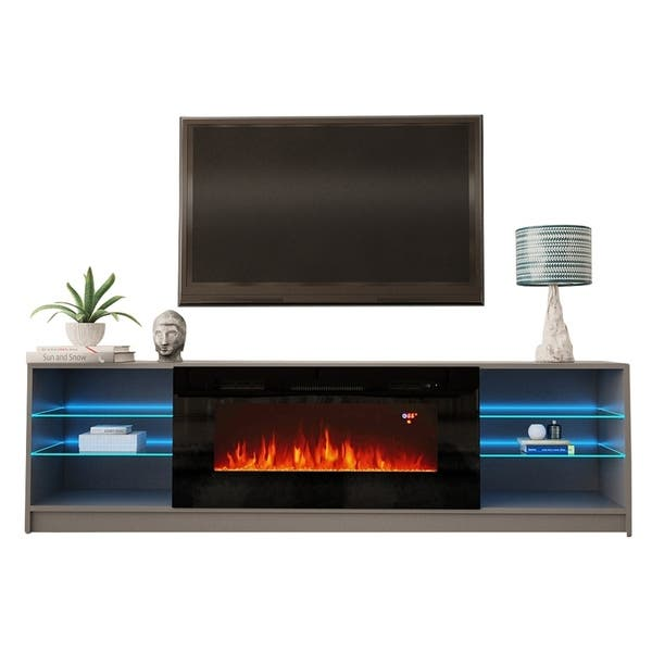 Shop Strick Bolton Amsden Electric Fireplace Tv Stand On Sale