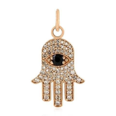 18Kt Gold Diamond Hamsa Spinel Hamsa Charms Gold Jewelry
