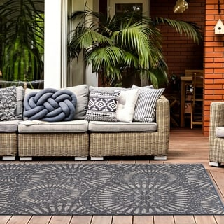 Modern Circles Indoor/Outdoor Area Rug