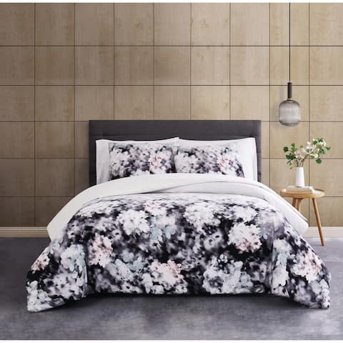 Porch & Den Nahcotta Flower ombre 3-piece Duvet Cover Set