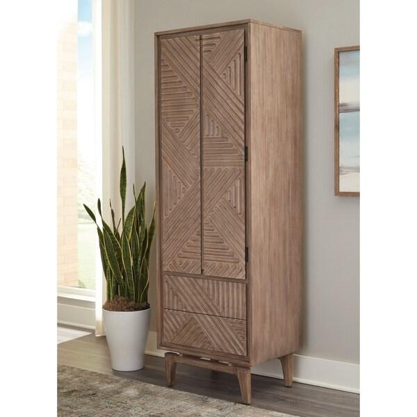 "Carson Carrington Hjuvik 2-drawer Rectangular Shoe Cabinet - 24"" x 18"" x 72.75"""