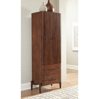 "Carson Carrington Hjulsta Teak 2-drawer Shoe Cabinet - 27.75"" x 18"" x 75.25"""