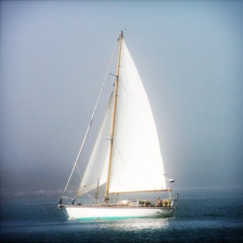 CANVAS Sailboat into the Mist by Jobe Waters