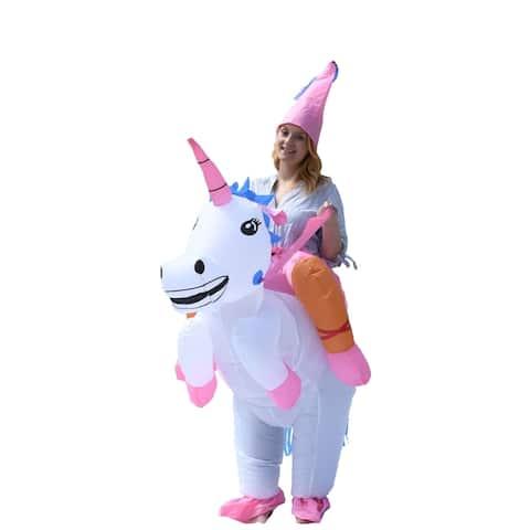 ALEKO Adult Sized Halloween Inflatable Party Costume - Princess Unicorn Rider