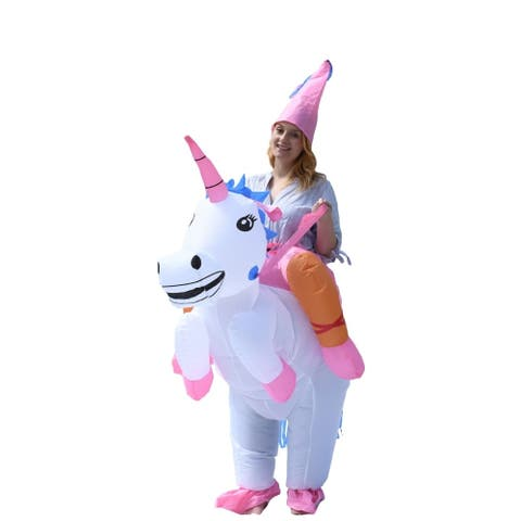 ALEKO Adult Sized Halloween Inflatable Party Costume - Princess Unicorn Rider