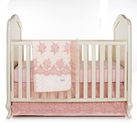 Remember My Love 3Pc Set (Includes quilt, moire sheet, crib skirt) - 8' x 11'