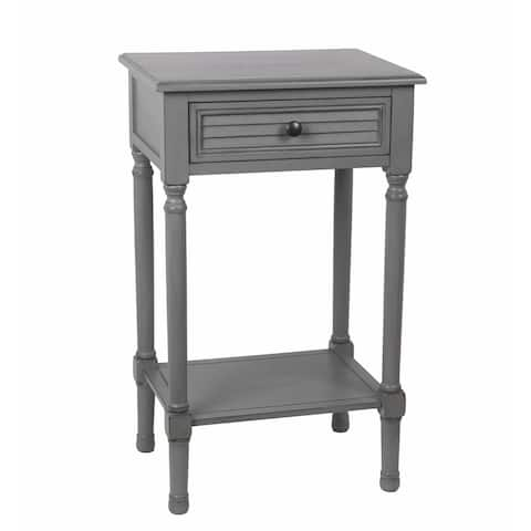 The Gray Barn Fischer Vendee Gray 1-drawer Accent End Table