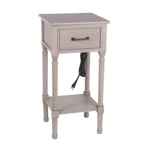 Privilege Savannah 1 Drawer Accent End Table USB & AC Out