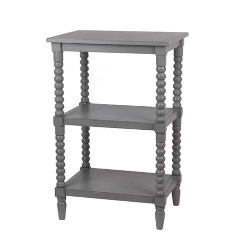 The Gray Barn Fischer Vendee Gray 3-tier Accent End Table