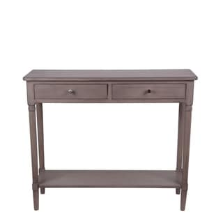 Privilege Vintage Stone 2 Drawer Accent Console Table