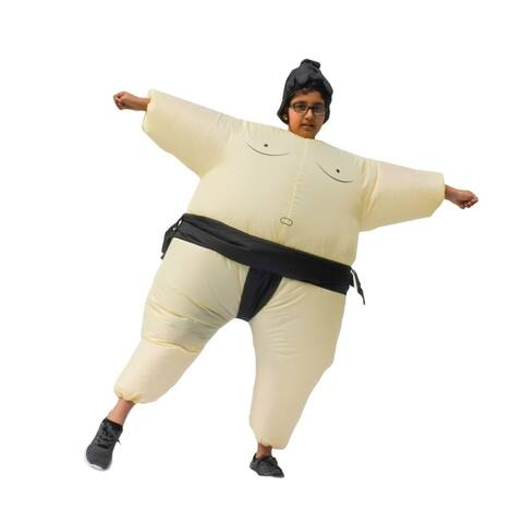 ALEKO Child Sized Halloween Inflatable Party Costume - Sumo Wrestler